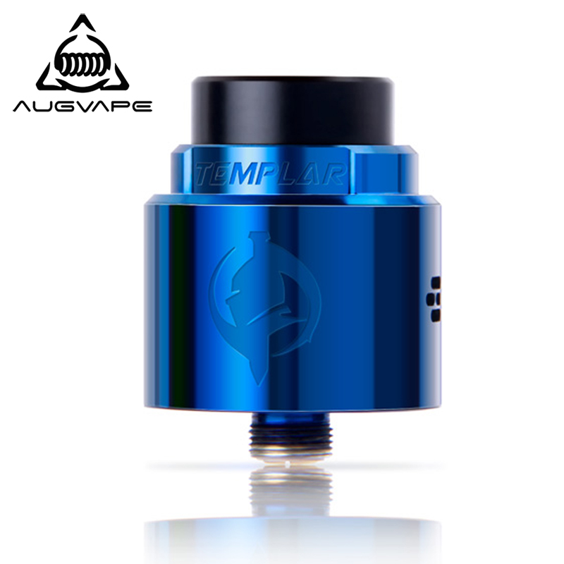 Augvape Templar RDA Atomizer 24mm PC Top Cover Electronic Cigarette Vape Flavor Chasing Velocity Clamp System Low Profile Tank
