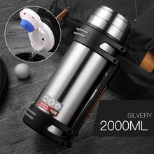 304 Stainless Steel Fashion Thermos 2000ml/2500ml Termos Coffee Vacuum Flasks Thermoses Outdoor Travel Thermos Bottle 2019 304 stainless steel thermos 1000ml 2000ml termos coffee vacuum flasks thermoses travel thermos bottle stainless steel thermo pot