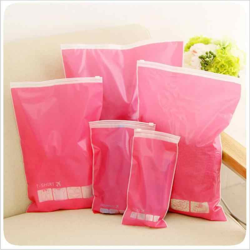 4Pcs/set 35*45cm Travel Storage Shoes Bag Translucent Plastic Package Clothes Storage Pouch Waterproof Cosmetic Finishing Bags