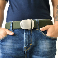 Hot Male Tactical Belt Top Quality Elastic Canvas Belts For Men NO5 Automatic Buckle Outdoor Sport