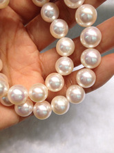 100% Natural Akoya Pearl Necklace Sea Water Pearl Necklace 9-10MM Nobility Perfect Round