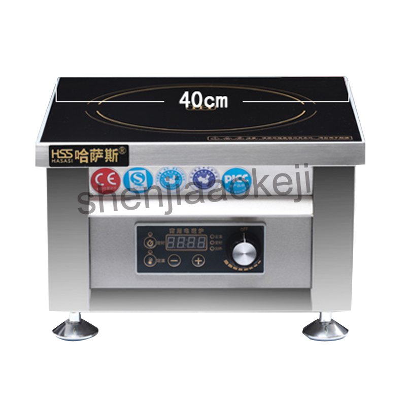 все цены на 6000w commercial induction cooker 11gear household business Electromagnetic furnace cooking Heat food HSS-605G 1pc онлайн