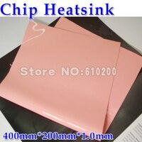 400*200*1.0mm Rosa Silicone Almofada Térmica almofadas de Refrigeração para CPU GPU VGA Chip Dissipador Alta térmica condutividade 3.8 w/m. K