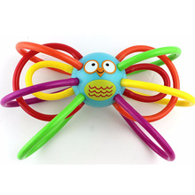 Colorful Baby Molar Ball Bird Style Baby Rattles Toys Baby Puzzle Teeth Ball Molar Tooth Sticks Chimes Hand Bell Baby Rattle Toy
