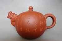 China tea set old purple clay pot authentic cup teapot gift custom set Manual pottery dragon top zisha teapot