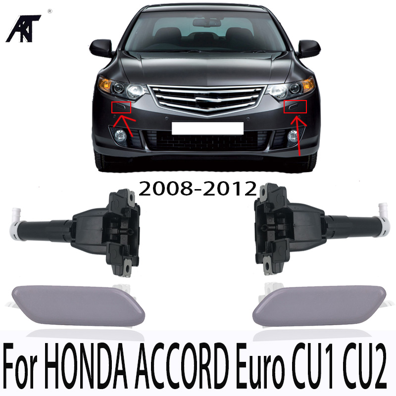 4PCS For SPIRIOR CU1 CU2 For ACCORD 2008-2012 Headlight Water Nozzle Washer Actuator & Cover Cap 76885-TL0-S01