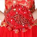 Rojo Bruidsboeket Artificial Ramo De La Boda Ramo de Flores de La Boda Ramos de Novia Brautstrauss Braut De Mariage En Stock