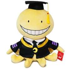 30cm/11.8in Assassination Classroom Korosensei Plush Toy Octopus Cosplay Anime Stuffed Doll Smile Face