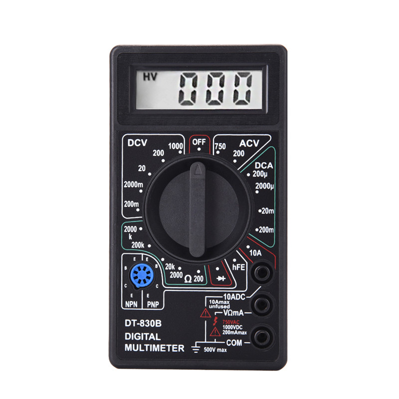 2 Color LCD Digital Multimeter AC/DC 750/1000V Voltmeter Ammeter Ohm Tester Meter Digital Multimeter DT830B Drop Shipping