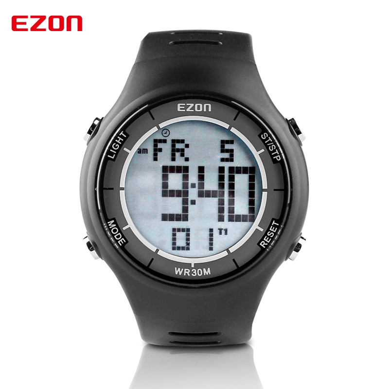 Hot!!! EZON Digital Men Sports Watch Dual Time Stopwatch Outdoor Casual Running Swimming Waterproof 30m Wristwatch Montre HommeHot!!! EZON Digital Men Sports Watch Dual Time Stopwatch Outdoor Casual Running Swimming Waterproof 30m Wristwatch Montre Homme
