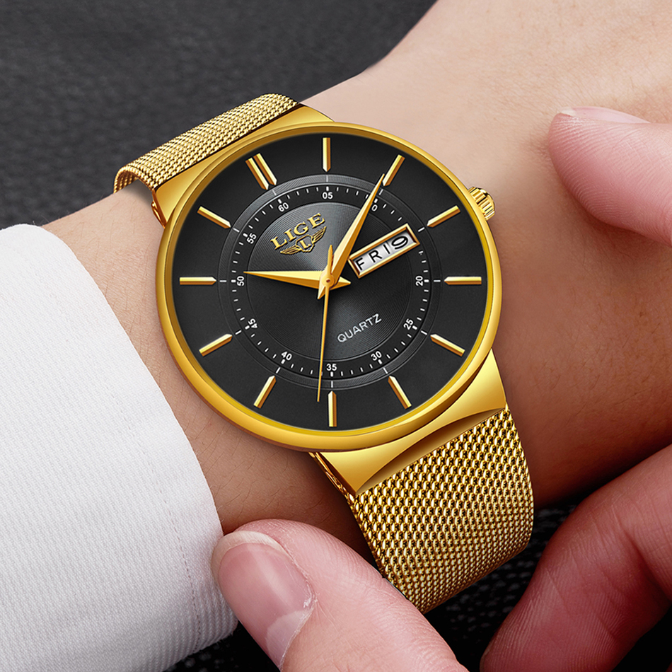 HTB1iokPaRGw3KVjSZFwq6zQ2FXam Mens Watches LIGE Top Brand Luxury Waterproof Ultra Thin Date Clock Male Steel Strap Casual Quartz Watch Men Sports Wrist Watch