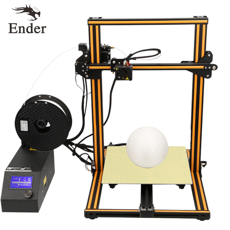 2018 High Quality CR-10s 3D Printer KIT Large print size 300*300*400mm Full Aluminium Creality 3D printer 3D Filament as a gift creality 3d cr 10s diy 3d printer kit large printing size 300 300 400mm dual z rod resume printing filament detect function