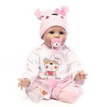 OCDAY 22 inch 55 cm Handmade Reborn Dolls 5 Styles Realistic Soft Silicone Baby Dolls Kids Birthday