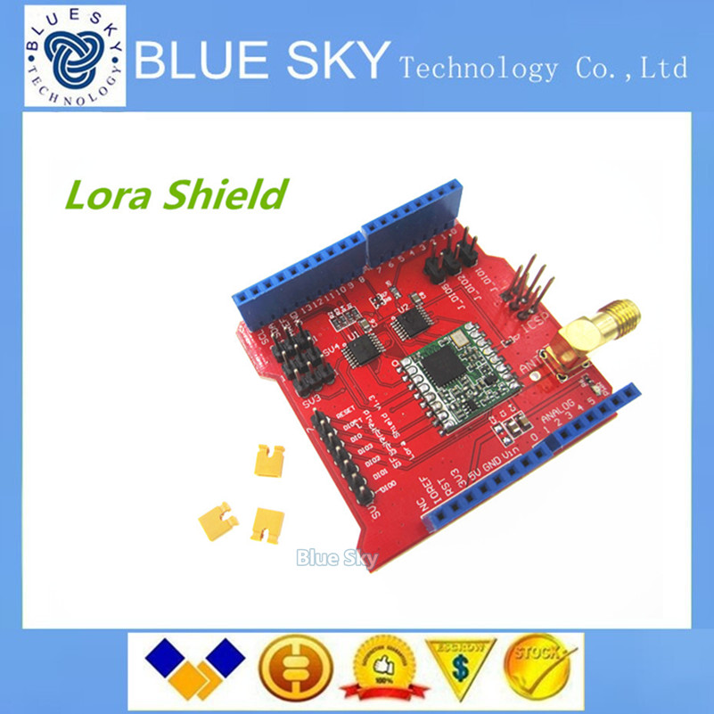 Free shipping 1pcs Long distance wireless 433 868 915Mhz Lora font b Shield b font for