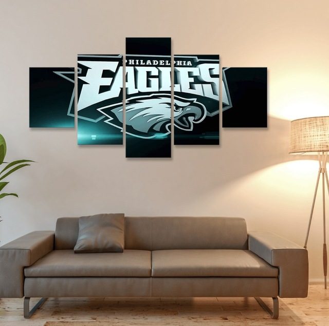 Philadelphia Eagles Canvas Prints 5 Pieces Painting Wall Art Home Decor Panels Sport Poster For Living Room C 761 In Calligraphy From
