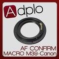 2-й Регулируемая Макро АФ Подтвердите адаптер Костюм Для M39 Объектив Canon 5D II 60D 600D 500D 550D 60Da 50D 40D 7D 5D Камеры