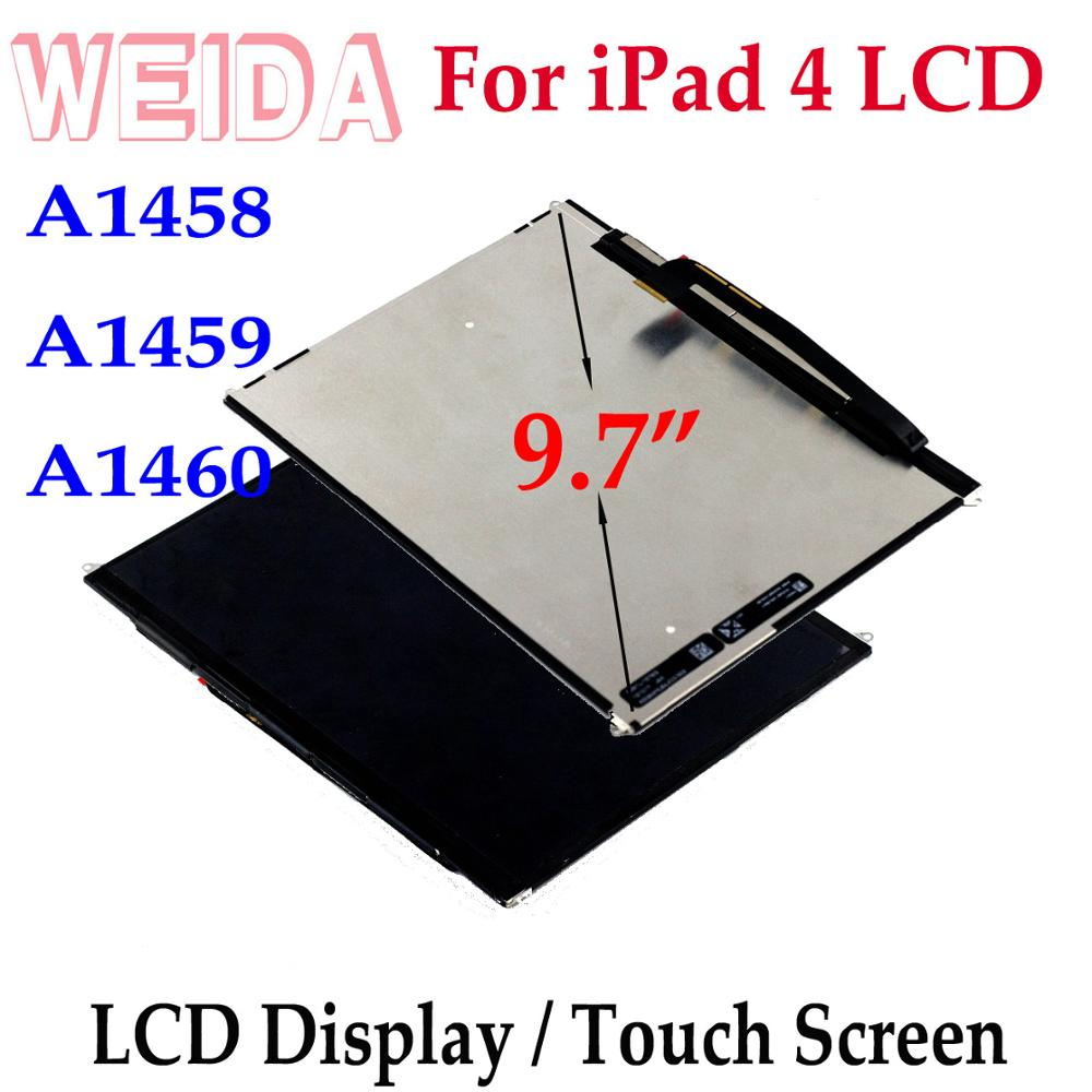 "WEIDA LCD Replacement 9.7"" For iPad 4 LCD A1458 A1459 A1460 Display Touch Screen Assembly Replacement for iPad 4"