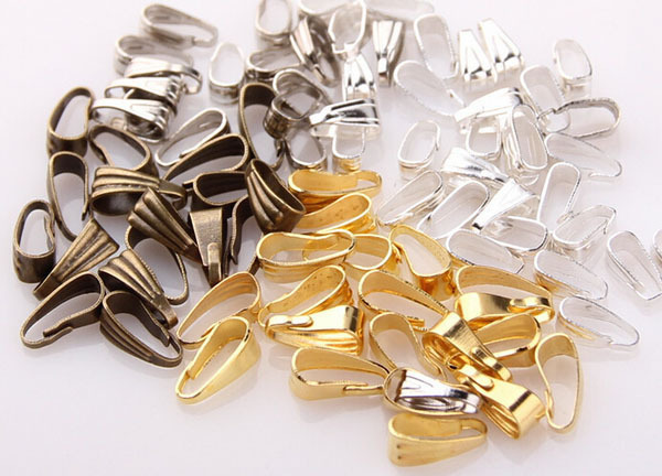 300pcs/lot Jewelry Findings Pendant Clips Pendant Clasps Pinch Clip Bail Pendant Connectors DIY jewely parts accessories