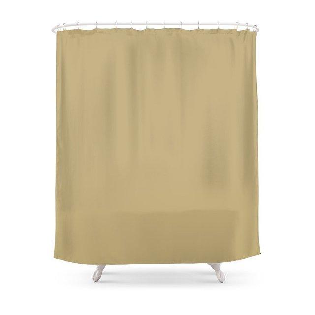 Hemp Shower Curtain Waterproof Polyester Fabric Bathroom Decor Multi Size Printed With 12 Hooks