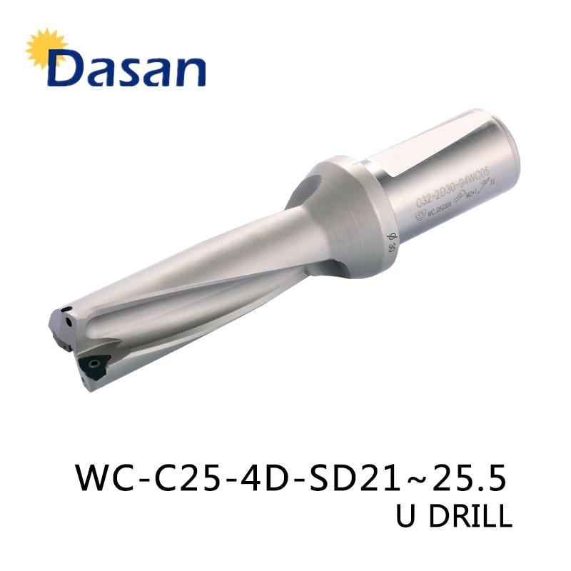 WC C25 4D SD 21 22 23 24 25mm Indexables Insert Exercices U Forage De Forage De Type Trou Peu Profond Outil Pour WC04 insérer