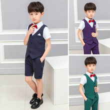 2019 summer children suits boy short sleeve shorts stripe two-piece suit baby clothing wholesale boys ALI 284