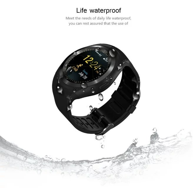 Smartch Y1 Smart Watchs Round Support Nano SIM TF Card With Whatsapp And Facebook Men Women