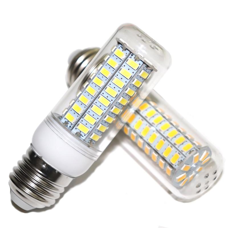 LED Lamp E27 E14 3W 5W 7W 12W 15W 18W 20W 25W SMD 5730 Corn Light Bulb 220V Chandelier LEDs Candle Light Spotlight
