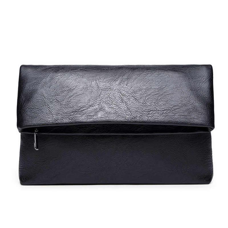 Business Männer Brieftasche Männer Kupplung Tasche PU Leder Brieftasche Vintage Große Dünne Geldbörse Mode Männlichen Münzfach Brieftaschen
