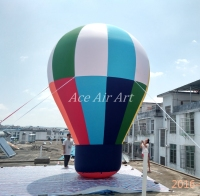 Roof Top Ball Ground Ball Inflatable Advertising Ball Inflatable Rainbow Roof Ball For Advertising