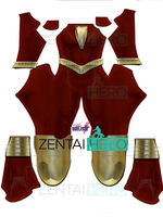 3D Printed Female Captain Shazam Cosplay Costume Spandex Zentai William Batson Superhero Costume Halloween Bodysuit With Cape