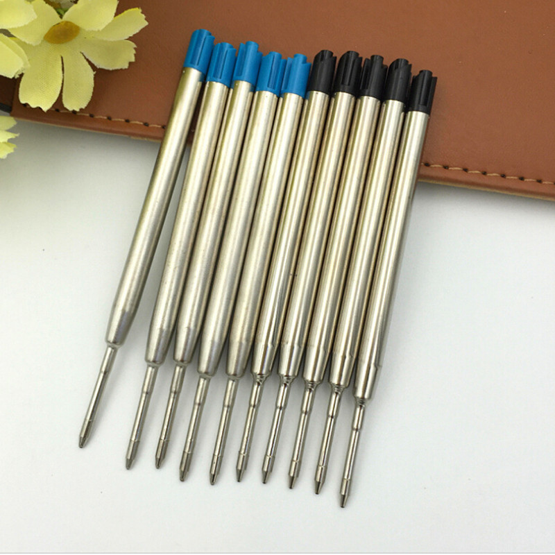 Wholesale 10pcs/Set Ballpoint Pen Refill Smooth Fine 0.5mm Medium Filling Parts For Child Students S