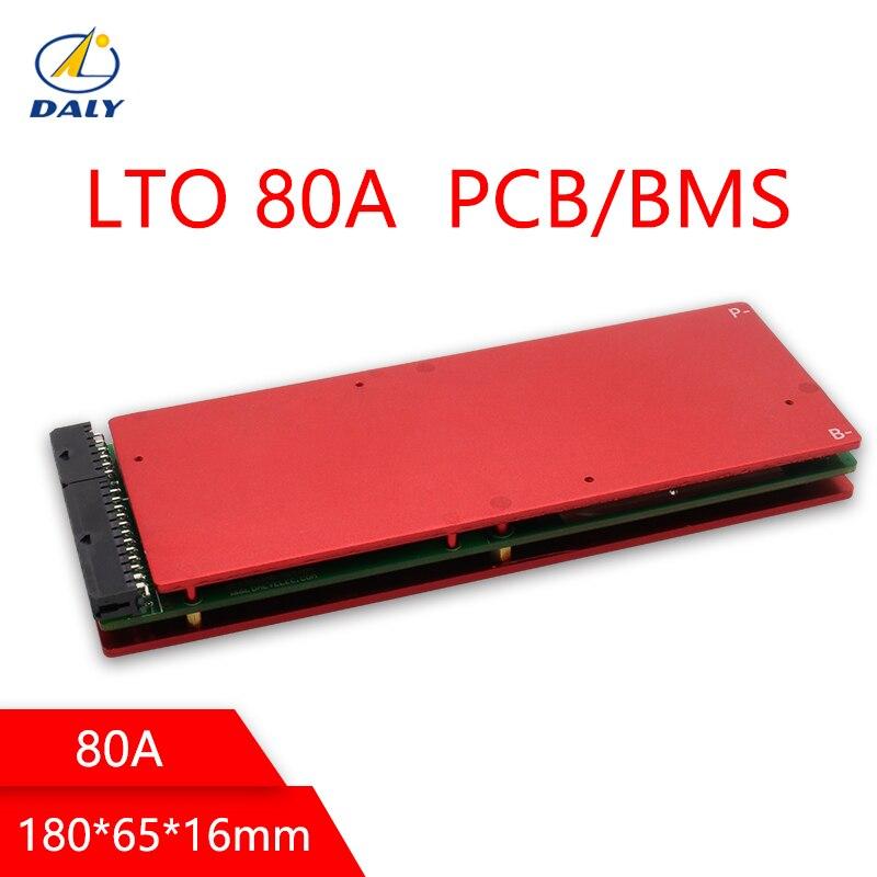 Batterie Daly LTO BMS 5 S/10 S/15 S/20 S/25 S/30/35 S 80A 2.4V avec Balance pour 12 V/24 V/36 V/48 V /60 V/84 V batteries au Lithium Titanate