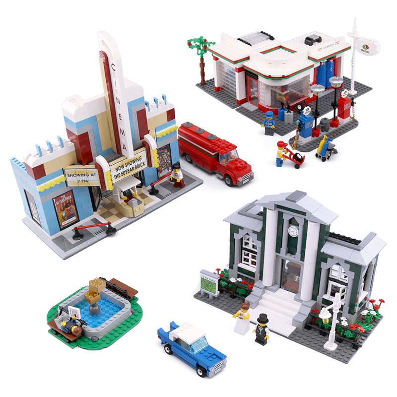 Lepin 02022 City Model Toys compatible with Lego 10184 Town Plan Set Building Blocks Bricks New Kids Toys Christmas Gifts Model shirly new rest stop dream house building blocks compatible with lego bricks girl s educational toys birthday christmas gifts