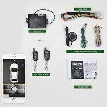 Смартфон управление Автосигнализация системы комплект Smart пассивный Авто Центральный замок двери автомобиля Keyless кнопка дистанционного MP900A
