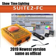2019 lastest version Sunlite Suite2 FC DMX-USD Controller DMX 1536 Channels DJ Party LED Lights Stage Lighting control software chauvet dj fc w