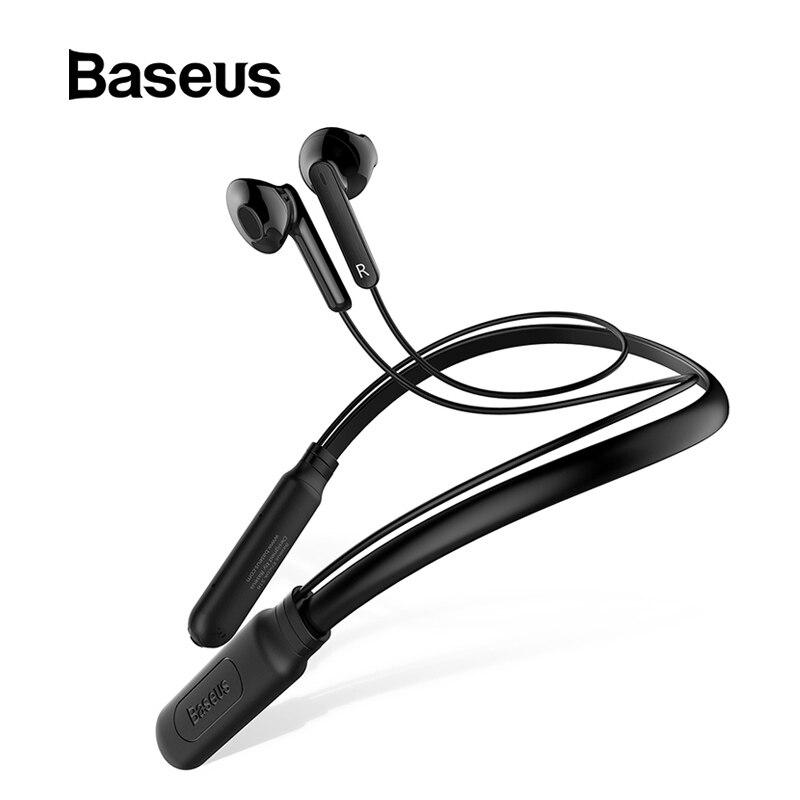 Baseus S16 Neckband Esporte Fone de ouvido Bluetooth Fone de Ouvido Sem Fio Handsfree Fones de Ouvido Fones de Ouvido Com Microfone Fone De Ouvido Bluetooth