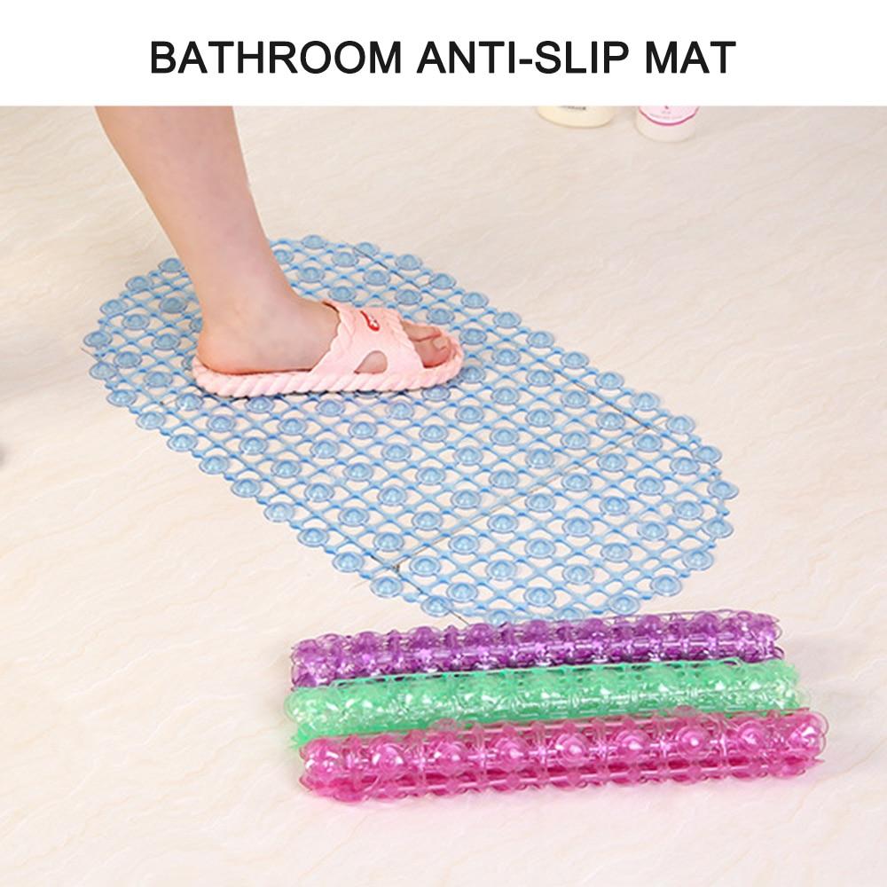 PVC Bathmat Bathroom Products Non-slip Bathmat Bathtub Mats Bath Mat with Suction Cup Bathroom Shower Pad Transparent Carpet