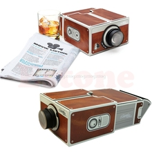 Portable Cardboard Smartphone Projector 2.0 DIY Mobile Phone Cinema Theater Projection accessories N22 dropship