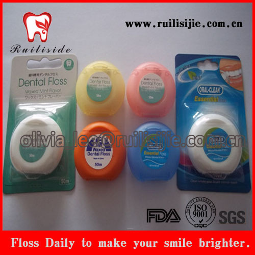 50M Waxed & Mint Oral Care Dental Floss