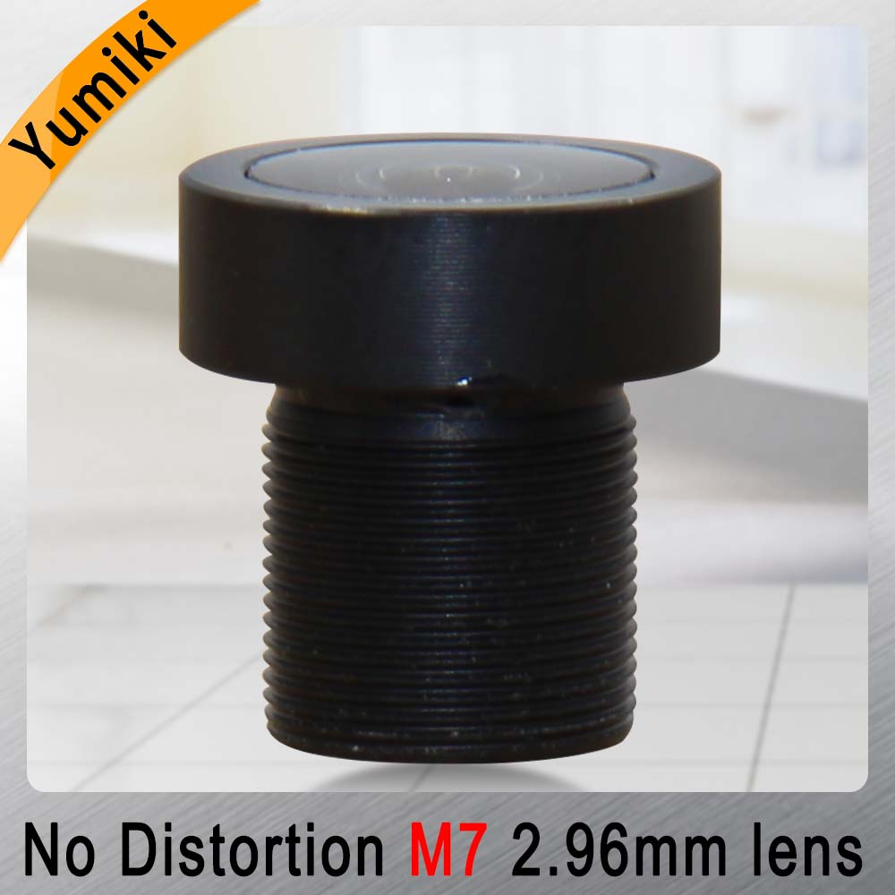 Yumiki 2.96mm M7 Lens 1/2.7 Inch 5MP IR F1/2.4 No Distortion Lens For Cctv Camera Wide Angle 156degree