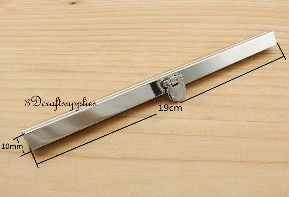 7 1/2 inch ( 19 cm ) nickel silver wallet purse frame wallet frame D70
