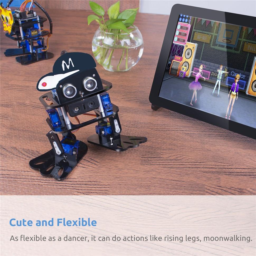 SunFounder DIY 4-DOF Robot Kit -Sloth Learning Kit for Arduino Nano DIY Robot (3)