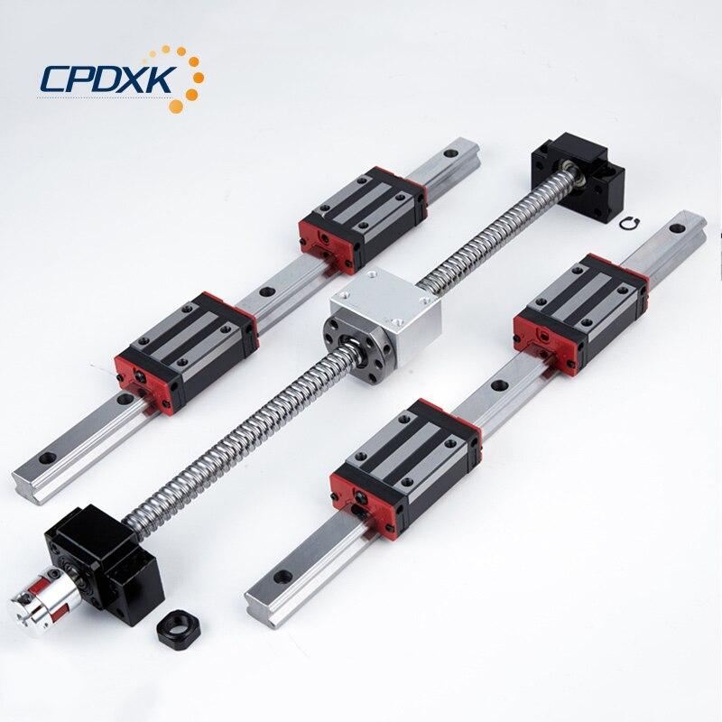 Ballscrew HG20 Square Linear guide rail 12 sets + HGH20CA 24 pcs  + ball screw assembly SFU1605 mm 7pcs + BK/BF12 CNC part