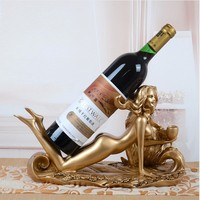 sexy beauty Statue Red Wine Bottle Rack Creative gifts Decorative Household Phoenix and Craft Barware Gift Wine Rack