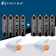 Пало 8 шт 2a AA Аккумуляторная батарея аа NiMH 1,2 V 3000 mAh пальчиковые батарейки для удаленного Управление игрушечной камеры