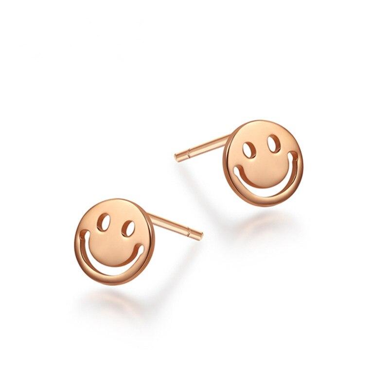VOJEFEN Ear Jewelry Happy Smile Face 18K Gold Stud Earrings Gold Smiley Earrings for Men Women Boys Girls Statement Earings