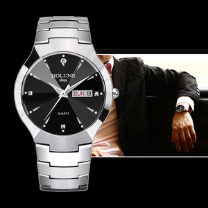 Image 2 - レロジオ masculino 2020 holuns タングステン鋼男性は石英ブランドの高級カジュアルダイヤモンド男性腕時計ドレス防水