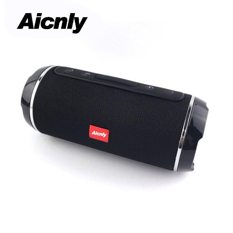 Inalámbrico 10 W Bluetooth 4,2 altavoz columna vibrador portátil de alta potencia de los altavoces Bluetooth radio altavoces impermeables con Fm