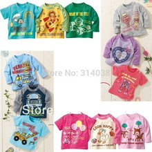 Free shipinglot long shirt  kid Pyjamas, long sleeve, kid Sleepwear.baby set