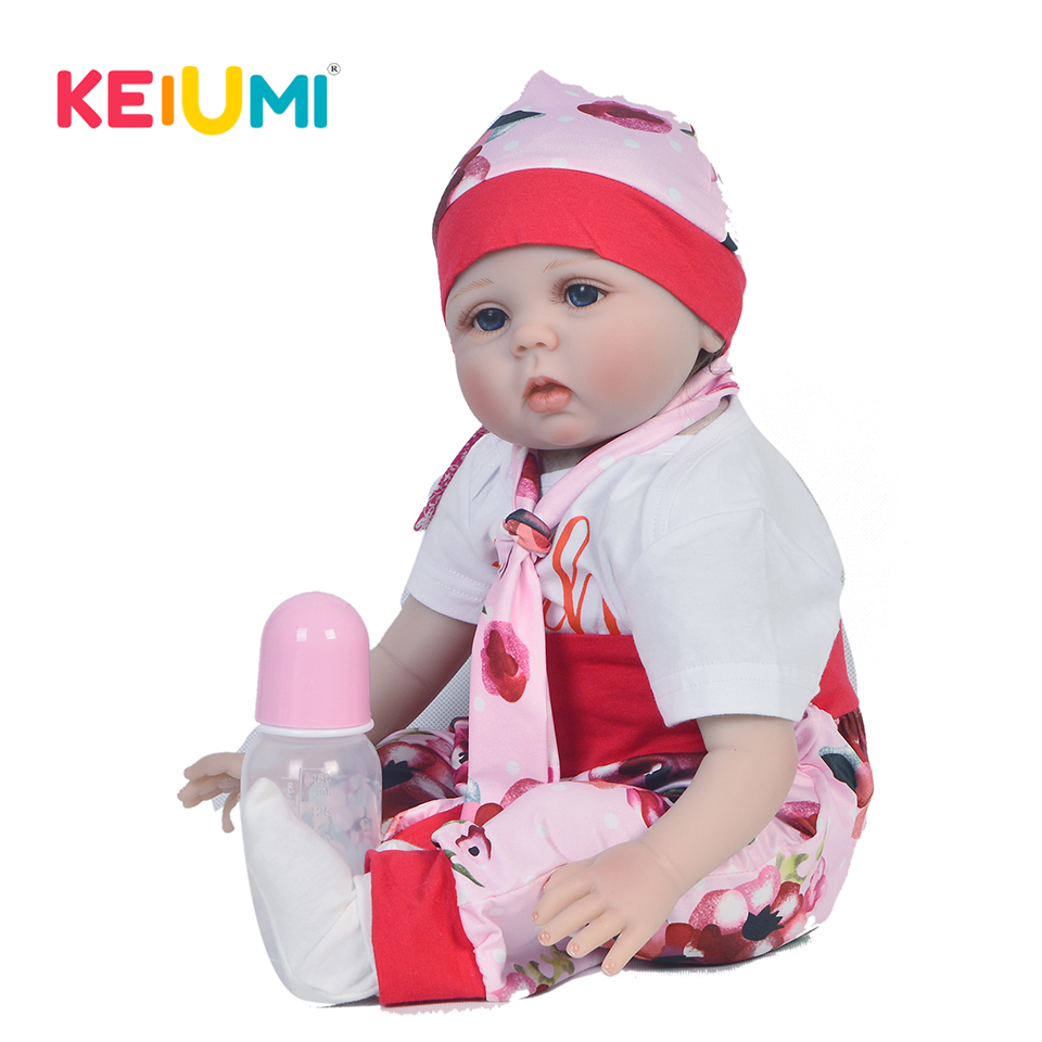 KEIUMI Fashion 22 Inch Newborn Baby Doll Cloth Body Realistic Lovely Baby Doll Toy For Children's Day Kid Christmas Gifts keiumi real 22 inch newborn baby doll cloth body realistic lovely baby doll toy for children s day kid christmas xmas gifts